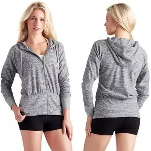 Athleta Batwing and Robin Zip Front Hooded Jacket
